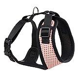 DYYTR Hundegeschirr No-Pull Pet Harness Verstellbare Outdoor-Haustierweste Nylon + Netzmaterialweste für Hunde Einfache Steuerung für kleine mittelgroße Hunde,Pink,L