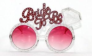 Gifts 4 All Occasions Limited SHATCHI-364 - Juego de 2 gafas para novia, accesorios para disfraz, fiesta de despedida de soltera, color rosa