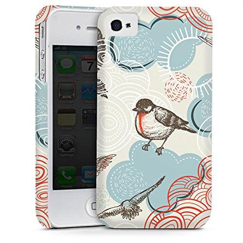 Apple iPhone 5s Housse étui coque protection Oiseau Motif Motif Cas Premium mat