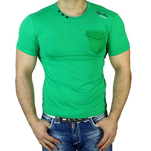 Subliminal Mode -  T-shirt - Collo a U  - Uomo Verde