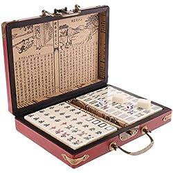 Homyl Mahjong Juego de Mesa Juego Chino Antiguo para Entretenimiento entre Amigos Familia