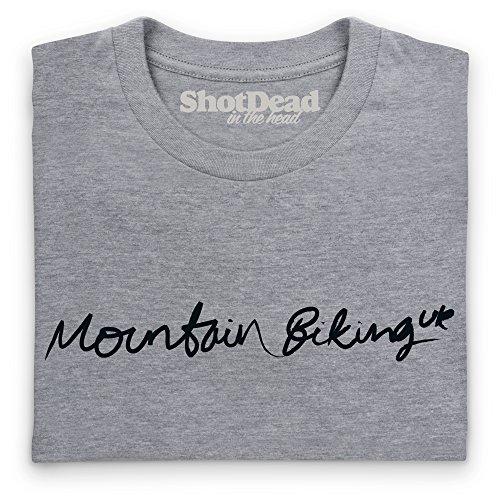 Mountain Biking UK T-Shirt, Damen Grau Meliert