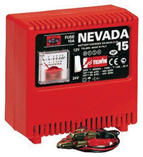 TELWIN NEVADA 15 CARGADOR PARA BATERIAS 12-24 V 9A CON ELECTROLITO PARA PILAS