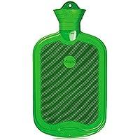 2 Liter Gummi-Wärmflasche, Wärmeflasche Warmtherapie, einseitig Lamellen, grün preisvergleich bei billige-tabletten.eu