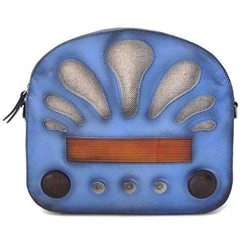 Pratesi Radio Days borsa da donna - S436 Santa Croce (Nero) Azzurro