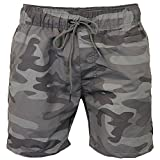 CS Branded 2k18Mar Mens Camouflage Swim Shorts Crosshatch Army Camoswim Military Knee Length Summer[Grey,M]