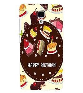 ColourCraft Birthday Back Case Cover for XIAOMI MI 4