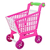 Domybest 11,8 '' Mini Einkaufswagen voll Lebensmittelgeschäft Essen Spielzeug Spielset für Kinder Spielzeug