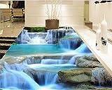 Xcmb 3D Bodenbelag Schöne Kreative Mode Moderne Tapete Natur Wasserfall Boden-250Cmx175Cm