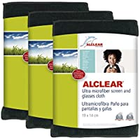 ALCLEAR 950003a_3 Special Display Cloths Set of 3 Ultra Microfibre Anthracite - ukpricecomparsion.eu