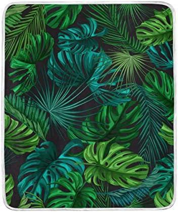 DOSHINE Couvre-lit, Feuilles de Palmier Tropical hawaïen 127 Doux léger Warmer couvertures 127 hawaïen x 152,4 cm pour canapé lit Chaise de Bureau 322b0d