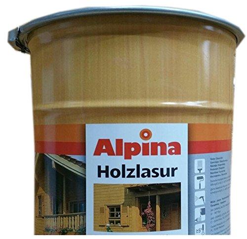 Alpina Universal Holzlasur Lösemitellhaltig 10 Liter Farbton Wählbar, Farbe:Mahagoni