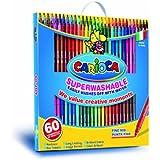 Carioca - Caja maletín con 60 rotuladores Joy Panda (41015)