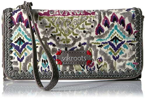 sakroots-artist-circle-tech-wallet-crossbody-slate-brave-beauti