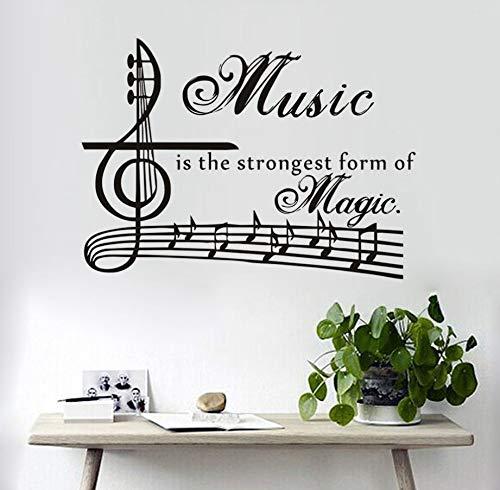 Etiqueta De La Pared La Música Es La Forma Más Fuerte