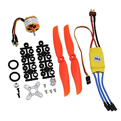 KEESIN RC 2200KV Brushless Motor 2212-6+ with 30A Brushless ESC Set Accessories Kit Mount for RC Plane Quadcopter Helicopter Aircraft
