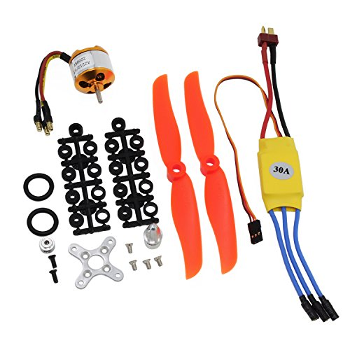 KEESIN RC 2200 KV Brushless Motor 2212-6 + mit 30 A Brushless ESC Set Zubehör Kit Halterung für RC Flugzeug Quadcopter Hubschrauber - Motor Flugzeug
