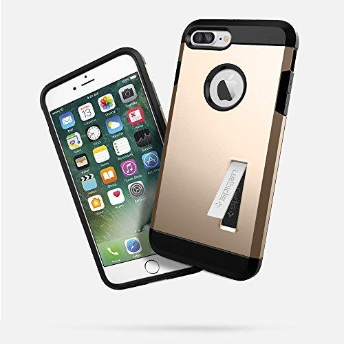 iPhone 7 Plus Hülle, Spigen [Tough Armor] Schwerschutz Doppelte Schutzschicht & Extrem Hoher Fallschutz Schutzhülle für iPhone 7 Plus Case, iPhone 7 Plus Cover - Black (043CS20531) TA Champagne Gold