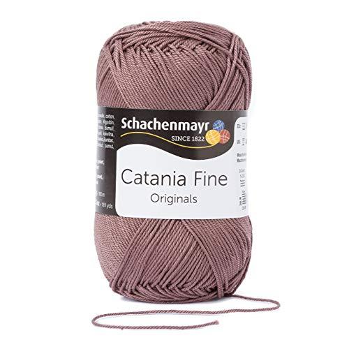 Schachenmayr Fil à Tricoter / Crocheter Catania Fine 9807300 - en Coton, Laine, Teddy, 28 x 12 x 10 cm