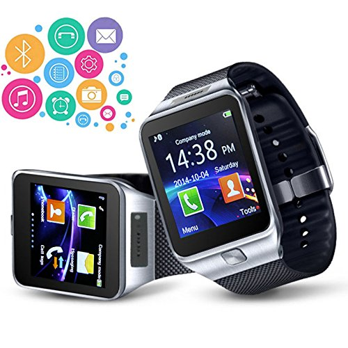 Indigi® GSM entsperrt Smartwatch & Handy [Kamera + SMS & Call Reminder + Alarm + Kamera]