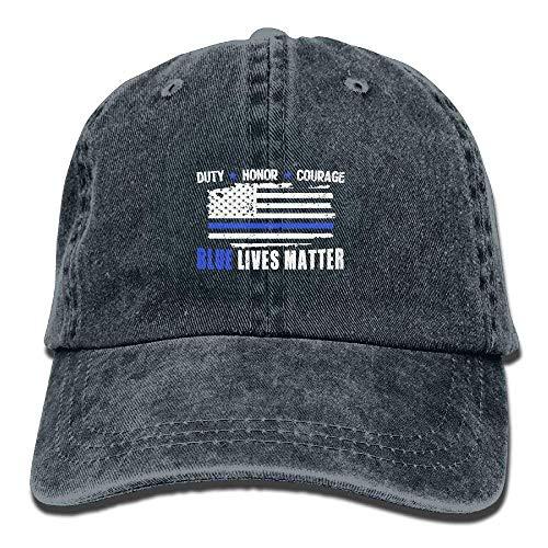 Zhgrong Caps Blue Lives Matter Sticker Vintage Washed Dyed Cotton Twill Low Profile Adjustable Baseball Cap Black Flexfit Cap Cotton Ball Holder
