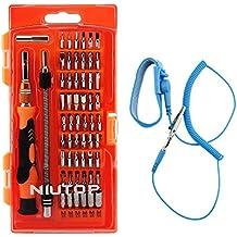 NIUTOP 59 en 1 con 54 Bits del impulsor magnético y pulsera antiestática- profundo Tornillo agujero de precisión destornillador juego portátil para iPhone / celular / iPad / Tablet / PC / Macbook / Kits de herramienta de mano de reparación de