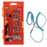 NIUTOP 59 en 1 con 54 Bits del impulsor magnético y pulsera antiestática- profundo Tornillo agujero de precisión destornillador juego portátil para iP