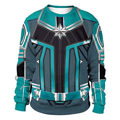 Hope Avengers Marvel Captain Sweatshirt 3D Print Costume Cosplay Supereroi Adulti Uomini Donne Maglioni Maglioni,Green-XL