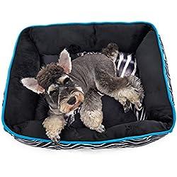 GHC-CASES-22 Pet Supplies, Animal Impreso casa de Perro Perro Nido Almohada de Cama Cojín Extraíble (Leopardo, zimbra, Jirafa) (Color : Zimbra, Size : M)