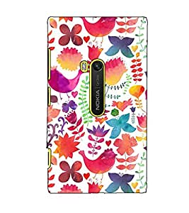 Fuson Designer Back Case Cover for Nokia Lumia 920 :: Micosoft Lumia 920 (Colourful Designer Theme)