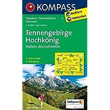 Tennengebirge - Hochkönig - Hallein - Bischofshofen: Wanderkarte mit Aktiv Guide, alpinen Skirouten und Radrouten. GPS-genau. 1:50000 (KOMPASS-Wanderkarten, Band 15)