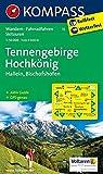 Tennengebirge - Hochkönig - Hallein - Bischofshofen: Wanderkarte mit Aktiv Guide, alpinen Skirouten und Radrouten. GPS-genau. 1:50000: Wandern, Rad, ... GPS-genau (KOMPASS-Wanderkarten, Band 15)