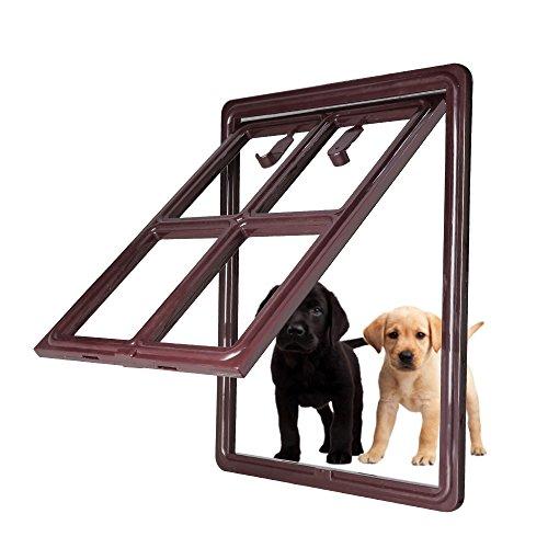 Ceesc pet dog serratura per porta scorrevole schermo 3rd versione aggiornata automatico per cani cuccioli gatti, 3colori opzioni