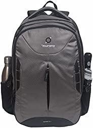 Murano Victor 31 LTR Laptop Backpack for 15.6 inch Laptop and Polyester Water Resistance Backpack for Men and Women- Dark Gre