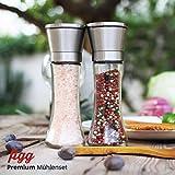 figg Design Salz und Pfeffermühle (2er-Set) mit einstellbarem Keramik-Mahlwerk – aus Edelstahl – Auch geeignet als Salzmühle und Gewürzmühle - 7