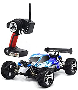 TOZO C1021 RC CAR High Speed 32MPH 4x4 Fast Race Cars 1:18 RC SCALE RTR Racing 4WD ELECTRIC POWER BUGGY W/2.4G Radio Remote control Off Road Truck Powersport Roadster Blue
