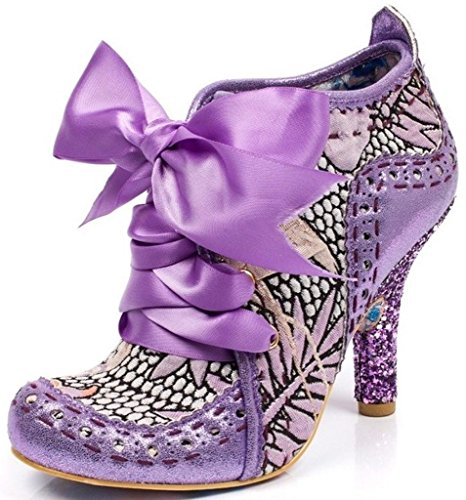 #Irregular Choice Abigail's Third Party Purple Metallic Womens Boots-37