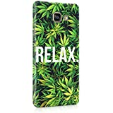 Relax Cannabis Leaves Pattern Hard Thin Plastic Phone Case Cover For Samsung Galaxy A5 2016