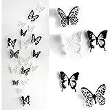 skyblue-uk 18 stickers Muraux de Papillons 3D Sticker Mural Autocollants bricolage papillon ...