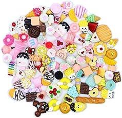 ILOVEDIY 30 Stück Kleine Dinge zum basteln Mini Barbie Puppe Brötchen Ornaments Schmuck Zubehör DIY Deko Stress Relief Spielzeug (#2)
