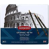 Derwent Graphic Full Set Graphite Pencils, 9B-9H - Set of 24