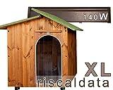 Cuccia per Amore - Cuccia riscaldata in legno - Extra Large (80x110cm) Cuccia (mis.int. 80x110x100)...