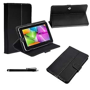 "Housse couleur noir universel pour tablette 7"" ex. ASUS GOOGLE Nexus 7, Kobo VOX,Nook Color,SAMSUNG GALAXY TAB 2 7.0 P3100 P3110/P6200/P1000, 2.2 EASY TAB, 7"" MID, Apad, Epad, 7 inch NEW e reader book, Blackberry playerbook, NOOK HD7, Huawei Mediapad T-Mobile SpringBoard 7"""