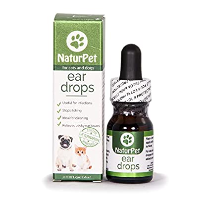 NaturPet Ear Drops | Natural Ear Infection Medicine For Dogs | Dog Ear Cleaner | Cat Ear Cleaner | Helps with Wax, Yeast, Itching & Unpleasant Odors 1