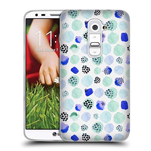 fizielle Kristina Kvilis Mint Gemischte Muster Soft Gel Hülle für LG G2 / D800 / D802 / D801 ()