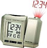 Technoline, Projektionswecker WT 535 mit Funkuhr, Innentemperaturanzeige und Datumsanzeige