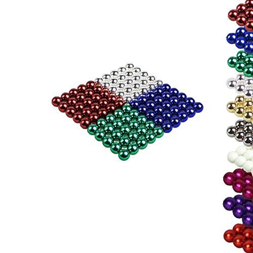 "VIELE FARBEN: 100 Magnetkugeln 5mm ""MAG-BALL"" Neodymmagnet Supermagnet Instudriemagnet: NdFeb 38 (4 Farben (r,g,b,c))"