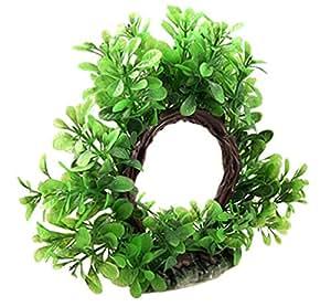 Ruichy Piante verde artificiale di plastica per carro armato di pesci Ornament, 15 centimetri