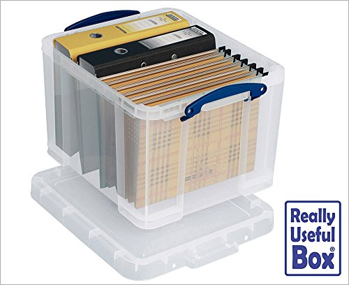 Bargain 12 x Really Useful 35 Litre Plastic Storage Box, MEGA-DEAL, Pack of 12 Boxes on Amazon