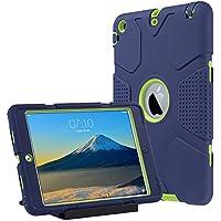 Caso del iPad Mini 1/2/3 ,Ulak iPad Mini 1/2/3 Funda 3in1 híbrido Cases de la cubierta a prueba de golpes Deber pata de cabra pesada para el iPad Mini / iPad Mini 2 / iPad 3 Mini (Armada + Verde)